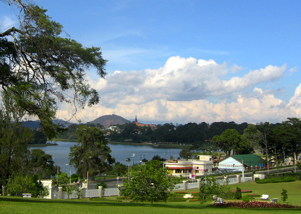 Da Lat, view to Xuan Huong lake 2
